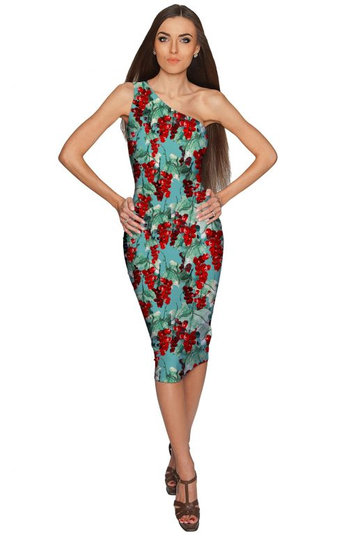 Toscana-Layla-One-Shoulder-Dress-Women-Green-Red-WD1-P0086XS